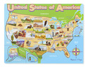USA Map Wooden Jigsaw Puzzle