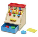 Sort & Swipe Wooden Cash Register