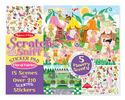 Scratch & Sniff Sticker Pad - Floral Fairies