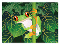 Red-Eyed Tree Frog Cardboard Jigsaw - 60 Pieces