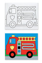 Canvas Creations - Fire Truck