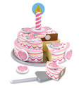 Triple-Layer Party Cake - Wooden Play Food