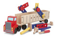 Big Rig Building Truck Wooden Play Set