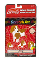 On the Go Scratch Art: Animal Families Hidden-Picture Pad
