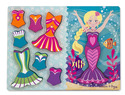 Mermaid Dress-Up Chunky Puzzle - 9 pieces