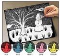 Scratch Art Paper Solid Color Assortment (12 sheets)