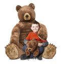 Brown Bear and Cub Jumbo Stuffed Animal