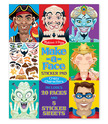 Make-a-Face Crazy Characters Stickers Pad