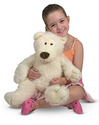 Big Roscoe Vanilla Teddy Bear Stuffed Animal