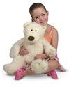 Big Roscoe Vanilla Teddy Bear Stuffed Animal