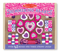 Shimmering Hearts Wooden Bead Set