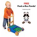 Chomp & Clack Alligator Push Toy with FREE Peek-a-Boo Panda