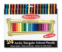 Jumbo Colored Pencils - Triangular No-Roll (24 pack)