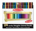 Jumbo Colored Pencils - Triangular No-Roll (24 pack)