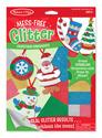 Mess-Free Glitter Christmas Ornaments