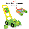 Tootle Turtle Lawn Mower with FREE Happy Giddy Binoculars