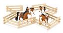 Wood Horse Corral Foldable Fence