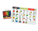 Alphabet Learning Mat with Wipe-Off Crayons