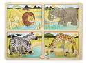 4-in-1 Safari Jigsaw Puzzle
