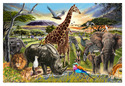 Savannah Adventure Floor Puzzle - 48 Pieces