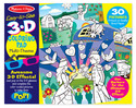 Easy-to-See 3-D Marker Coloring Pad Multi-Theme - Pink