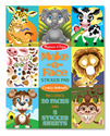 Make-a-Face Crazy Animals Sticker Pad