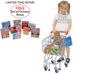 Shopping Cart with FREE Let's Play House! Grocery Boxes