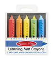 Learning Mat Crayons