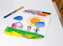 Blendy Pens Markers and Activity Book - 10 pieces