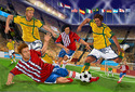 Slide Tackle! Soccer Floor Puzzle - 48 Pieces