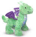 Zephyr Green Dragon Stuffed Animal