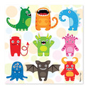 Mini Monsters Cardboard Jigsaw - 30 Pieces