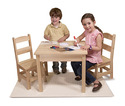 Wooden Table & Chairs 3-Piece Set