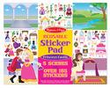Reusable Sticker Pad - Princess Castle