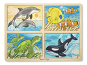 4-in-1 Jigsaw Puzzle - Sea Life