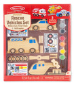 Decorate-Your-Own Wooden Rescue Vehicles Set