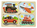 4-in-1 Peg Puzzle - Vehicles