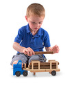 Log Carrier Wooden Toy Set