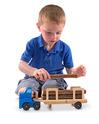 Log Carrier Wooden Toy Set