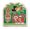 Rainforest Friends Jumbo Knob Puzzle - 3 pieces