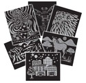 Scratch Art Pattern Paper Assortment (60 sheets)