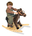 Rock and Trot Plush Rocking Horse