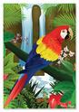 Tropical Parrot Cardboard Jigsaw - 200 Pieces