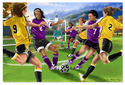 Shot on Goal Soccer Floor Puzzle - 48 Pieces