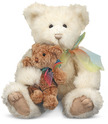 Cream & Puff Mother and Baby Teddy Bear Stuffed Animals