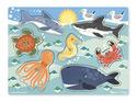 Sea Creatures Peg Puzzle - 6 Pieces
