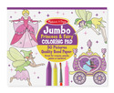 Jumbo Coloring Pad - Princess & Fairy
