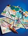 Scratch Art Paper Rainbow White (12 sheets)