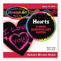 Scratch Art® Heart-Shaped Mini Notes