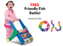 Rattle Rumble Push Toy with FREE Friendly Fish Grasping Toy